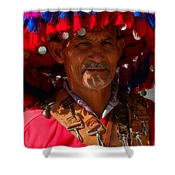 Water Seller Marrakesh Morocco Shower Curtain by Ralph A  Ledergerber-Photography