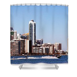 Water Skiing Shower Curtain by Carsten Reisinger