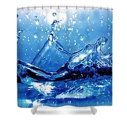 Water Splash Shower Curtain by Michal Bednarek
