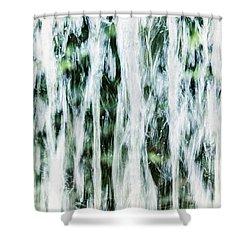 Water Spray Shower Curtain by Margie Hurwich