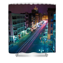 Water Street Zip Shower Curtain by Andrew Slater