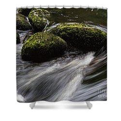 Water Swirl Shower Curtain