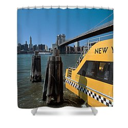 Water Taxi Shower Curtain by Bruce Bain