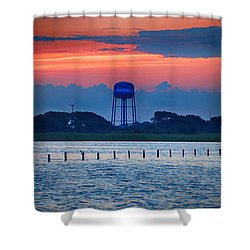 Water Tower Shower Curtain by Michael Thomas