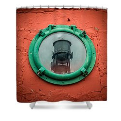Water Tower Reflection Shower Curtain by Paul Freidlund