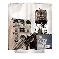 Shower Curtain featuring the photograph Water Towers 14 - New York City by Gary Heller