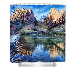 Water Under The Bridge Shower Curtain