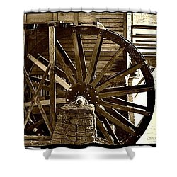 Shower Curtain featuring the photograph Water Wheel At The Grist Mill by Tara Potts