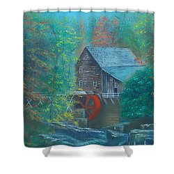 Water Wheel House  Shower Curtain by Dawn Nickel