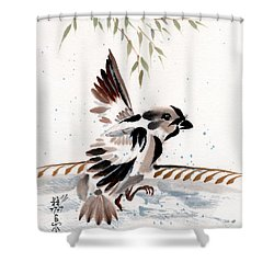 Water Wings Shower Curtain by Bill Searle