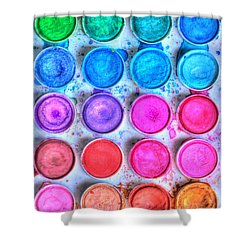 Watercolor Delight Shower Curtain by Heidi Smith