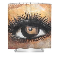 Watercolor Eye Shower Curtain by Chrisann Ellis