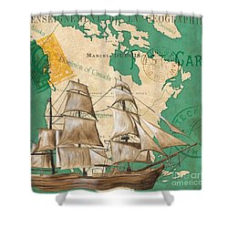 Watercolor Map 2 Shower Curtain