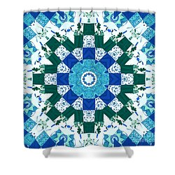 Watercolor Quilt Shower Curtain