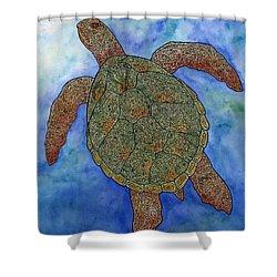 Watercolor Tribal Turtle  Shower Curtain by Carol Lynne