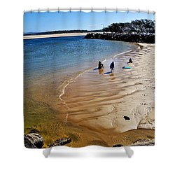 Watercolors At The Beach Shower Curtain by Kaye Menner