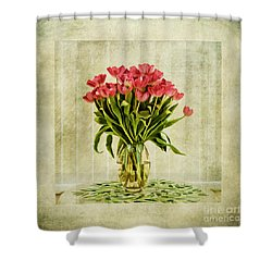 Watercolour Tulips Shower Curtain by John Edwards