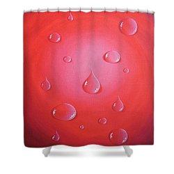 Waterdrops Shower Curtain by Sven Fischer