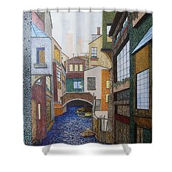 Watered World Shower Curtain by A  Robert Malcom