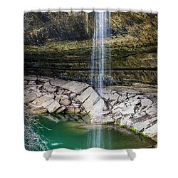 Waterfall At Hamilton Pool Shower Curtain