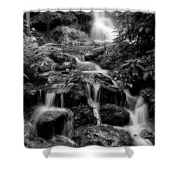 Waterfall At Rainbow Springs Shower Curtain by Beverly Stapleton
