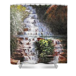 Waterfall Garden Shower Curtain
