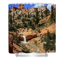 Waterfall In Bryce Canyon Shower Curtain