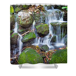 Waterfall In Marlay Park Shower Curtain by Semmick Photo