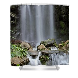 Shower Curtain featuring the photograph Waterfall In Singapore by Shoal Hollingsworth