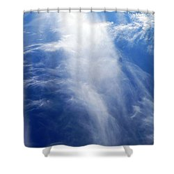 Waterfall In The Sky Shower Curtain