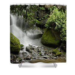 Waterfall Mist Shower Curtain