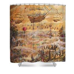 Waterfall Of Prosperity Shower Curtain