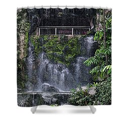 Waterfall Shower Curtain by Sergey Lukashin