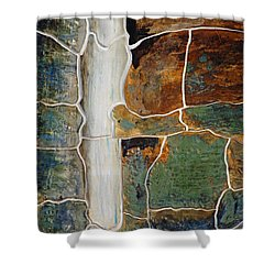 Waterfall Slate Shower Curtain by Holly Blunkall