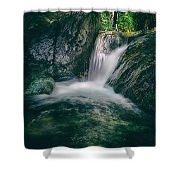 Waterfall Shower Curtain by Stelios Kleanthous
