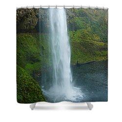 Waterfall View Shower Curtain by Susan Garren