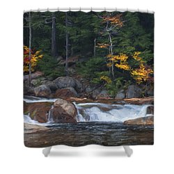 Waterfall - White Mountains - New Hampshire Shower Curtain