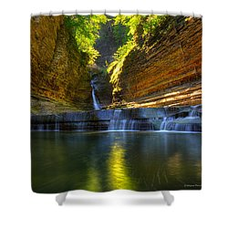 Waterfalls At Watkins Glen State Park Shower Curtain