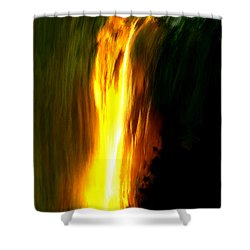 Shower Curtain featuring the painting Waterfalls By Light by Bruce Nutting