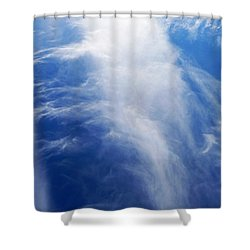 Waterfalls In The Sky Shower Curtain
