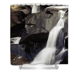 Waterfalls Shower Curtain by Les Cunliffe