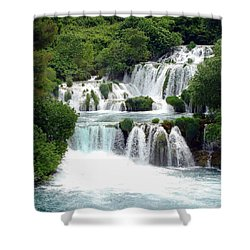 Waterfalls Of Plitvice Shower Curtain