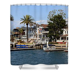 Waterfront Luxury Homes In Orange County California Shower Curtain by Paul Velgos