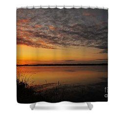 Waterfront Dawn Shower Curtain