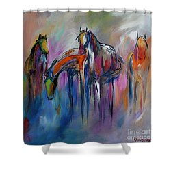 Watering Hole Shower Curtain by Cher Devereaux