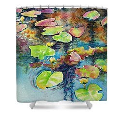 Waterlilies In Shadow Shower Curtain