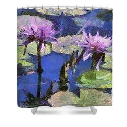 Waterlilies Shower Curtain by Teresa Zieba