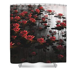 Waterlillies Shower Curtain