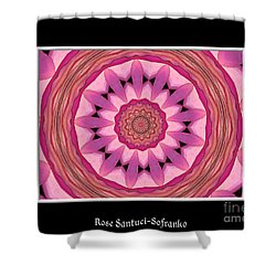 Shower Curtain featuring the photograph Waterlily Flower Kaleidoscope 3 by Rose Santuci-Sofranko