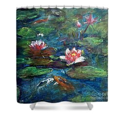 Waterlily In Water Shower Curtain